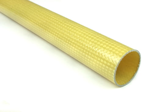 "Braided Kevlar Round Tube ~ 1.25"" ID x 96"""