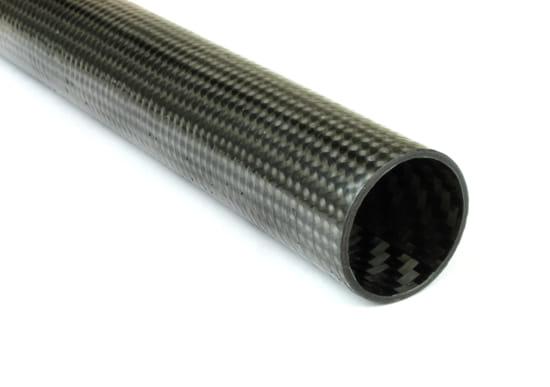 """High Modulus Braided Carbon Fiber Tube ~ 1"""" ID x 48"""""""