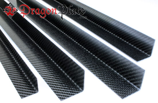 "Picture of Prepreg Carbon Fiber Angle .03"" x 1"" x 24"""