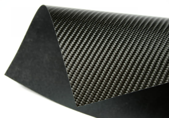 "Picture of Flame Retardant Twill Weave Carbon Fiber Laminate .025"" x 48"" x 96"""