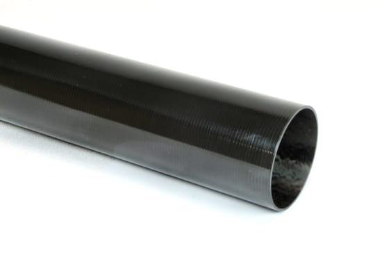 "Carbon Fiber Roll Wrapped Uni Tube ~ 2"" ID x 72"", Gloss Finish"