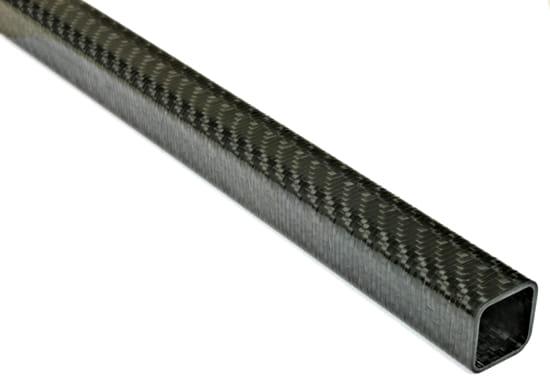 "Carbon Fiber Roll Wrapped Twill Square Tube ~ 0.75"" ID x 0.75"" ID x 72"""