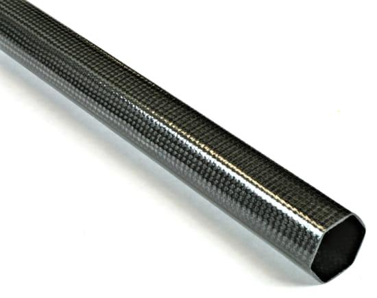 "1"" Braided Carbon Fiber Hexagonal Tube"