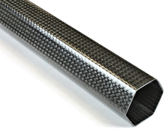 "1.5"" Braided Carbon Fiber Hexagonal Tube"