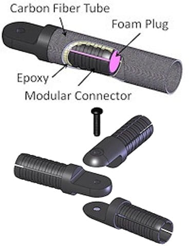 modular carbon fiber tube connectors